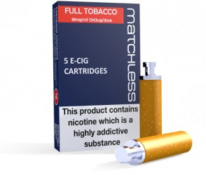 Matchless Full Strength E-Cig Cartridges - 5 Replacements in a carton