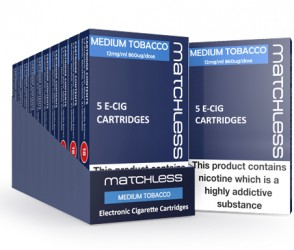 Matchless Medium Tobacco Cartridges - 50 Replacements + 5 FREE
