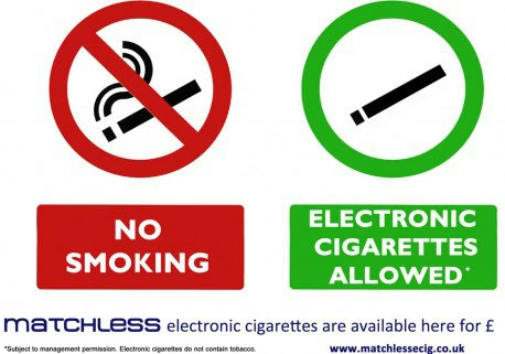 Matchless Smoking Permission Sign